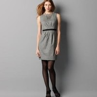 Pleated Tweed Sheath Dress: Dresses: LOFT