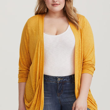 Yellow Burnout Cardigan