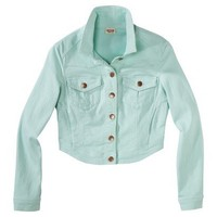Target : Mossimo Supply Co. Juniors Denim Cropped Jacket - Assorted Colors and Prints : Image Zoom