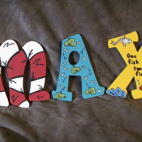 Hand Painted Dr. Suess Letters