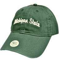 SBS - Legacy Michigan State Spartan Women's Green Hat w/Michigan State Embroidered