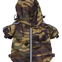 Reflecta-Sport Adustable Reflective Weather-Proof Pet Rainbreaker Jacket - Camouflage: X-Small