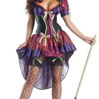 Purple Striped Tiered Witch Costume