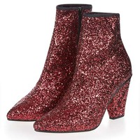 HIGH Sequin Stretch Boots - Sale - Sale & Offers
