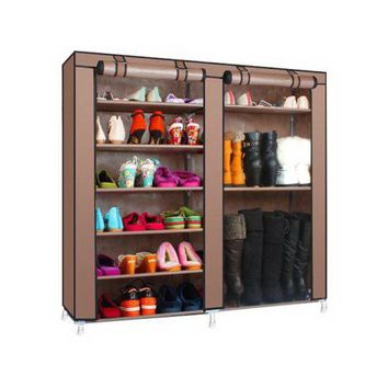 Double Rows 9 Lattices Combination Style Shoe Cabinet Coffee