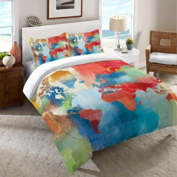 Seasons Change Abstract Duvet Cover