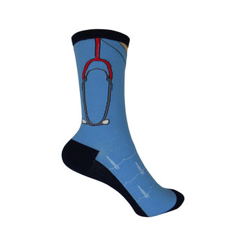 Scrubs Crew Socks in Blue