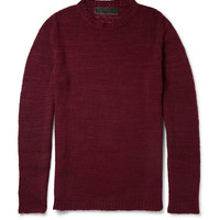 The Elder Statesman - Herringbone-Knit Cashmere Sweater | MR PORTER
