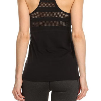 Mesh Sports Tank - BLACK - Activewear - RWL SPORT - Ruffles with Love