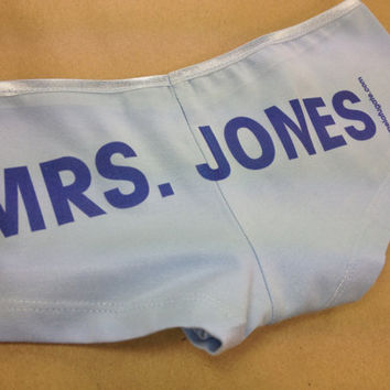 Something Blue Personalized Wedding Panties by PamelaFugateDesigns