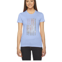 Vintage USA Flag - Women's Tee