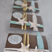 Beach Bridesmaid Gift Set - Set of 3 - Starfish Headband - Beach Wedding - Beach Headband - Bridemaid Gift- Starfish Hair Accessories