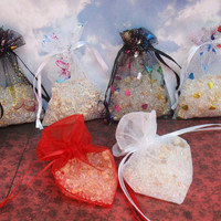 Air Freshener Sachet, Small Designer Butterflies & Hearts, Choice of Scents, Room Air Freshener, Organza Bag Sachet, Wedding Hearts Flowers