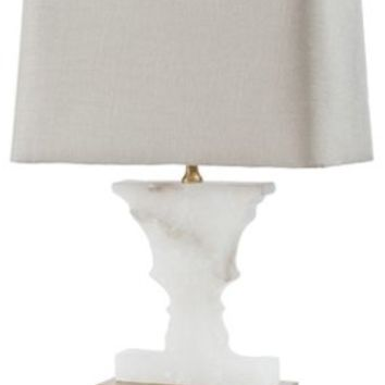 Table Lamp, Mini Alabaster Urn Lamp, Gold, Table Lamps
