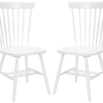 Parker Spindle Dining Chair (Set Of 2) White
