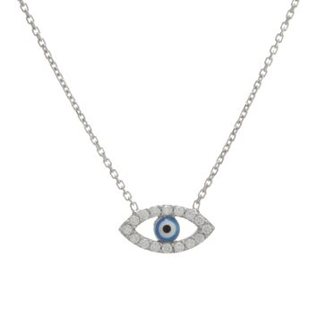 Sterling Silver Guardian Eye Necklace
