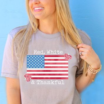Red White & Thankful (Stone) - Short Sleeve – ATX Mafia®