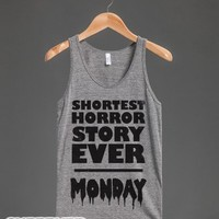 Shortest Horror Story Ever (Tank)-Unisex Athletic Grey Tank