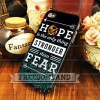 Hunger games hope quotes - iPhone 4/4s/5/5S/5C Case - Samsung Galaxy S2/S3/S4 Case - Plastic/Rubber - Black or White