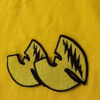 Mini Wu Bird with thirteen (13) Point lightning bolt Wu Tang Clan/Grateful Dead embroidered sew on patch, Built To last