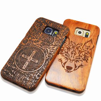 Dirt-Resistant Wood Embossed Fitted Case For Iphone 5S 0904-46