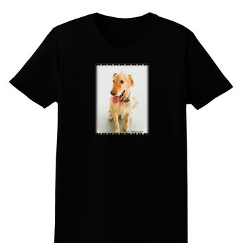 Golden Retriever Watercolor Womens Dark T-Shirt