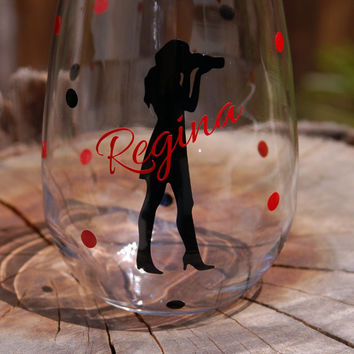 Photographer Stemless Wine Glass Personalized & Custom, Engagements Wedding Gifts, Wedding Favor, Photography