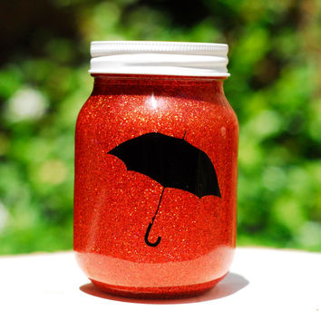 Tinted Glitter Mason Jar - Disney Mary Poppins inspired