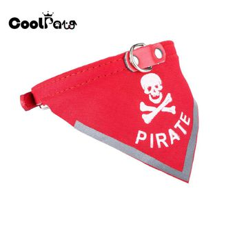 Skull Style Pet Collar Classic Dog Bandanas for Small Dogs Adjustable for Dogs Cats