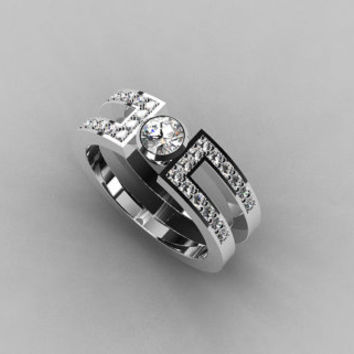 Diamond wedding band, Diamond ring, White gold ring, Wedding band, Unique, engagement ring, Wedding ring, bezel, Diamond, Vintage style