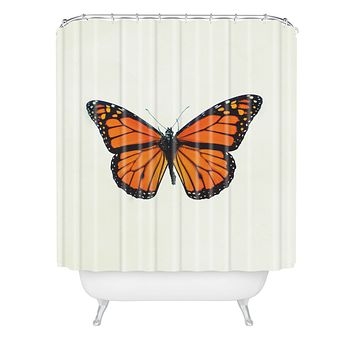Chelsea Victoria The Queen Butterfly Shower Curtain