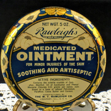 Vintage Tin Rawleigh's Medicated Ointment