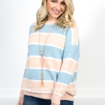 Baby Hue Eyelash Sweater