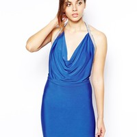Forever Unique Maddison Dress with Crystal Strap Detail - Sax blue
