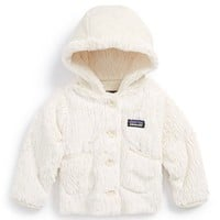 Infant Girl's Patagonia 'Conejito' Hooded Fleece