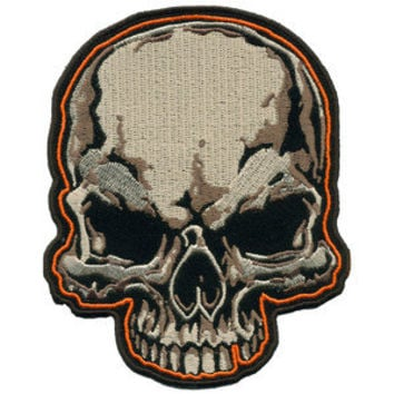 SKULL HEAD sew on iron PATCH P5470 biker NEW novelty bikers novelty patches sew