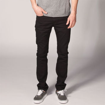 Levi's 510 Mens Skinny Jeans Jet Black  In Sizes