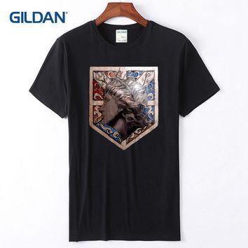 Cool Attack on Titan Thin Cotton Shirts Mens 2018  Wall Maria Tee Shirt For Men Latest Cotton 100% T-Shirt Black AT_90_11