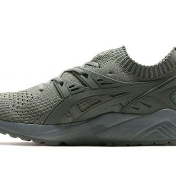 asics gel kayano trainer knit low olive olive unisex running shoes sneaker  number 1