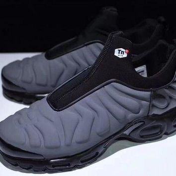"VOND4H Nike Air Max Plus Slip SP TN Retro Running Shoes ""Gray&Black�,Nike Air Max Plus Slip SP TN Retro Running Shoes ""Gray&Black""size:40-45"""