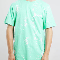 3CRNRS GREEN SPLATTER WASH T-SHIRT