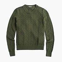 Women's Point Sur Allover Pointelle Crewneck Sweater - Women's Sweaters | J.Crew