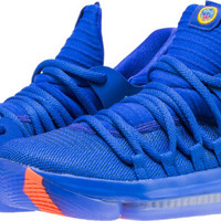 KD 10 PROSPERITY CITY EDITION GRADE SCHOOL BASKETBALL SHOE (RACER BLUE/LIGHT MENTA/TOTAL CRIMSON)