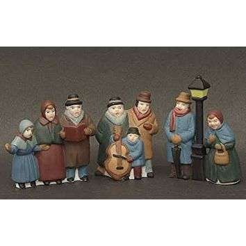 Dept.56-Dickens Village, Carolers Black Post Version, set-3