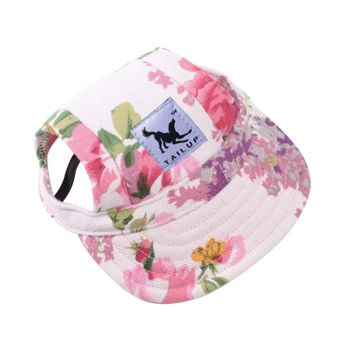 High Quality 10 Style Pet Dog Outdoor Baseball Cap Hat With Ear Holes Canvas Small Dog Cap Hat Summer Accessories Hiking