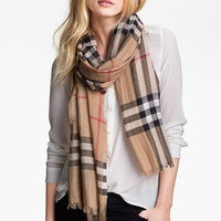 Burberry Giant Check Print Scarf | Nordstrom