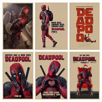 Deadpool Dead pool Taco  retro Poster Retro Kraft Paper Bar Cafe Home Decor Painting Wall Sticker AT_70_6
