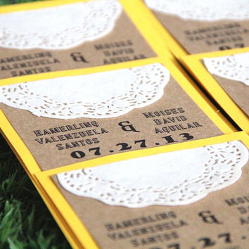 Handmade Wedding Program - Rustic Wedding - Order of Service - Double Sided - Set of 10