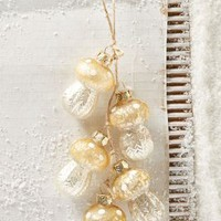 Glittering Mushroom Cluster Ornament by Anthropologie in Gold Size: One Size House & Home