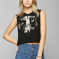Truly Madly Deeply Photo Negative Butterfly Muscle Tee - Urban Outfitters